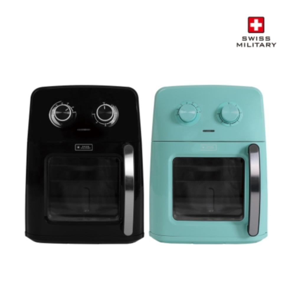 [스위스밀리터리] 보이는 사각 프라이어 오븐 (10L) (블랙 민트), SMA-AFA120G(민트)