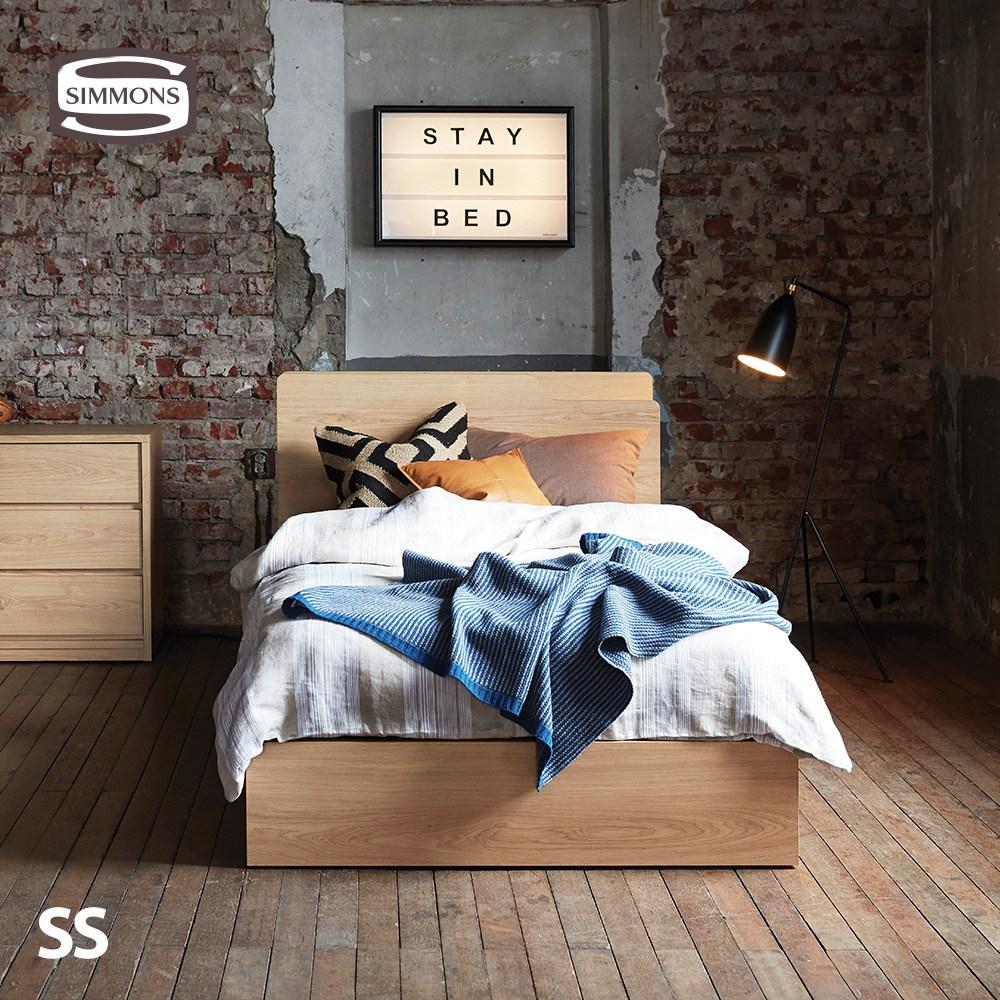 F3112. 뷰티레스트 시트러스. 슈퍼싱글 침대, 라이트오크