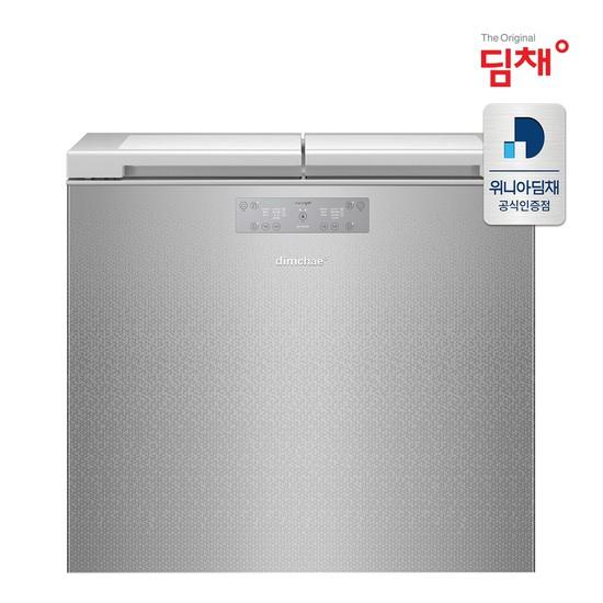 [전국무료설치] 21년형 딤채 EDL22EFWPSS 뚜껑형 김치냉장고 [221리터/2룸], 없음