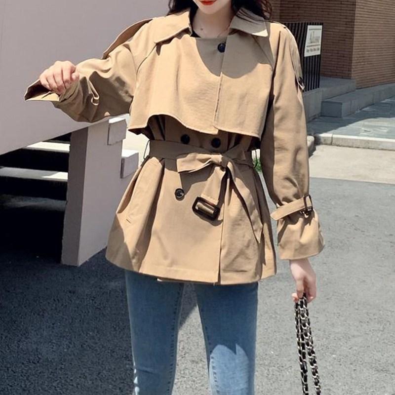 러블리트 5ZC7TODZ 여성 봄 가을 숏 트렌치 코트