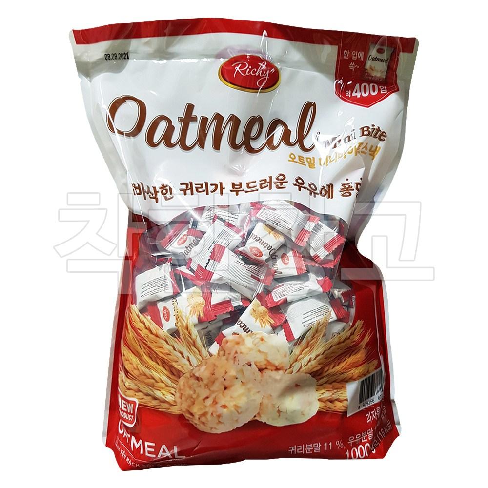 오트밀 미니바이트 1000g 약400개 귀리 스낵, 단품