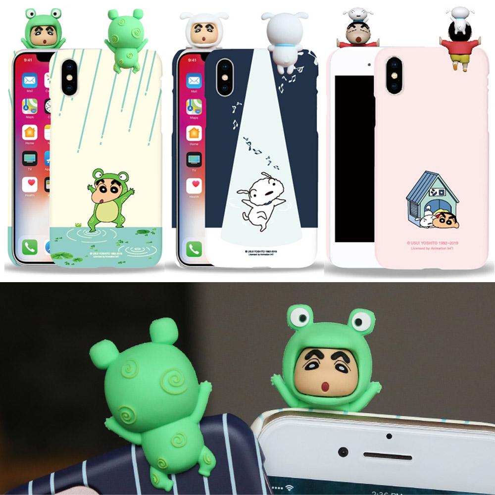 짱구 흰둥이 피규어 하드 케이스 아이폰12 미니 프로 맥스 갤럭시S20 울트라 플러스 노트20 정품 무료배송