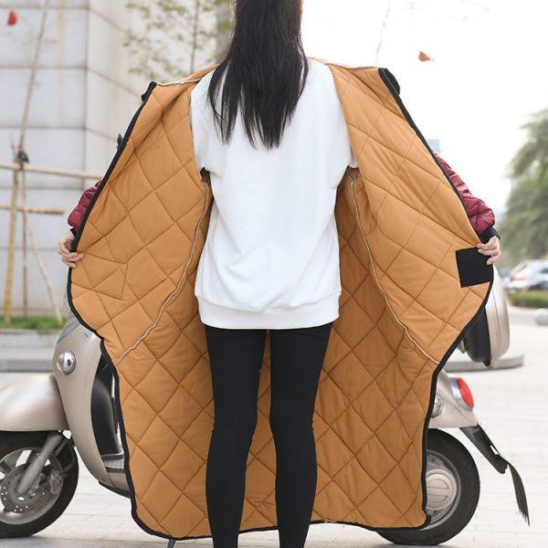 오토바이토시 방한용품 방한복 바이크방한복 배달복 겨울 스쿠터 바람막이, 레드