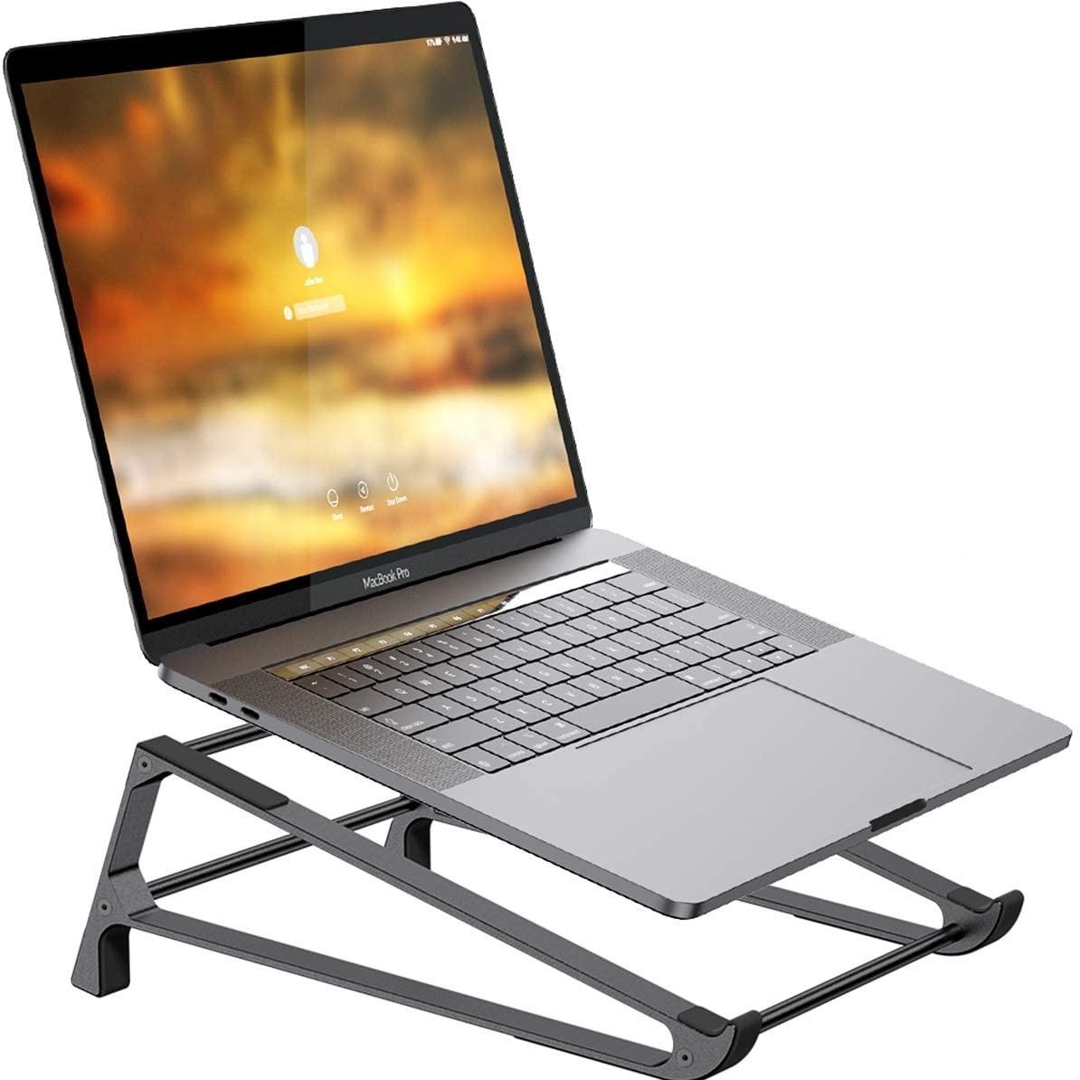 어바너 프리미엄 알루미늄 맥북 노트북 테블릿 듀얼 거치대 스탠드 (다크그레이)-24-5044572936