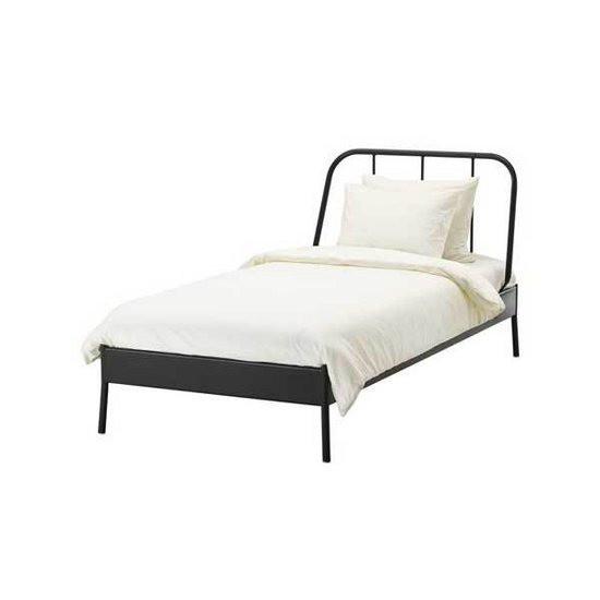 이케아 KOPARDAL 침대 프레임 + 독립포켓매트리스, 그레이