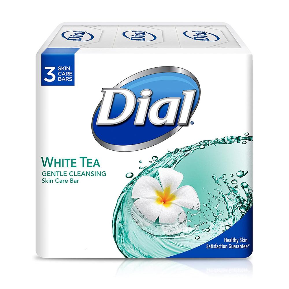 Dial Skin Care Bar Soap WhiteTea& Vitamin E 4 Ounce 다이얼 스킨 케어 비누 화이트티 비타민E4 3바 목욕비누, 1개