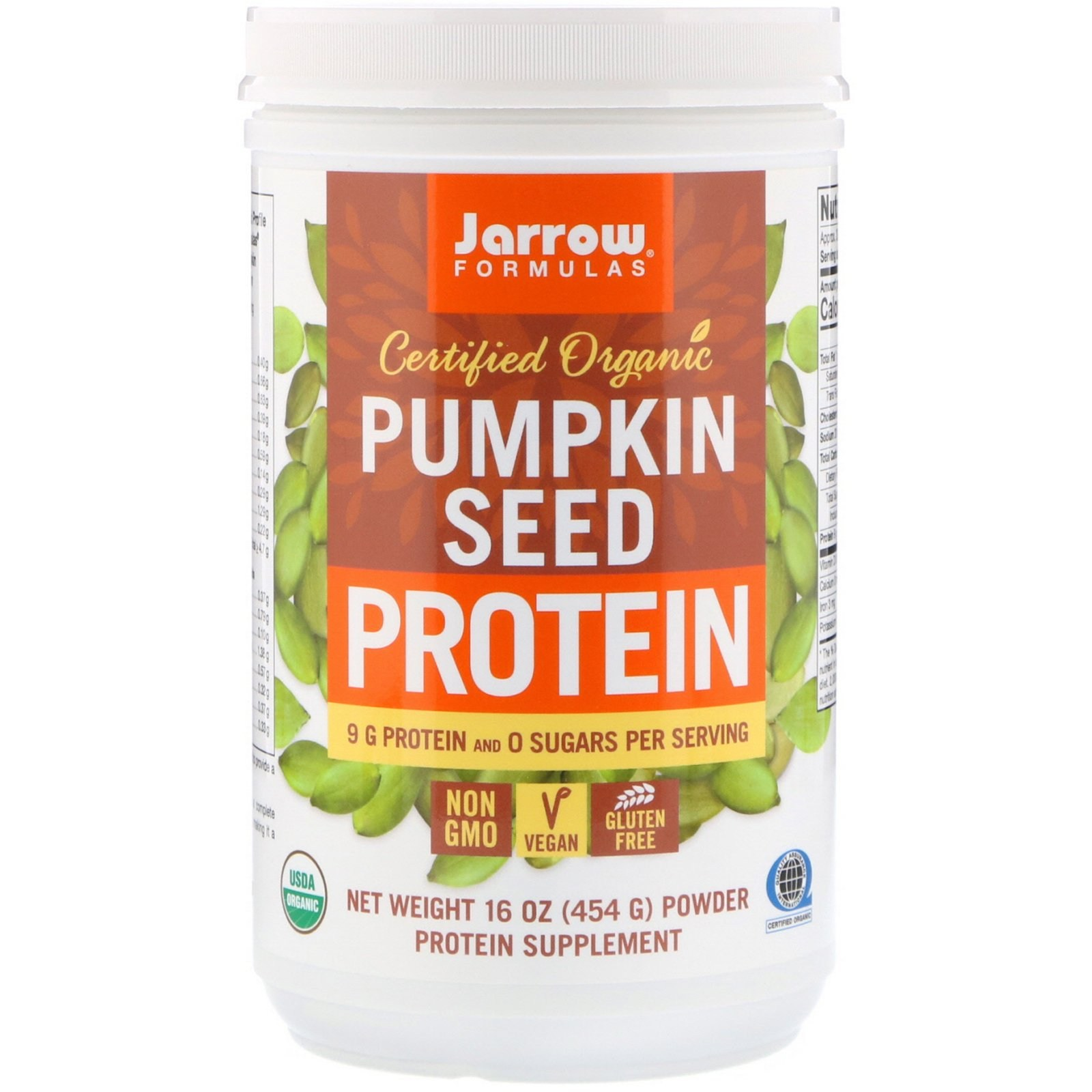 자로우포뮬라 인증 유기농 호박씨 프로틴 454g16oz 식물성 단백질, 1개, -