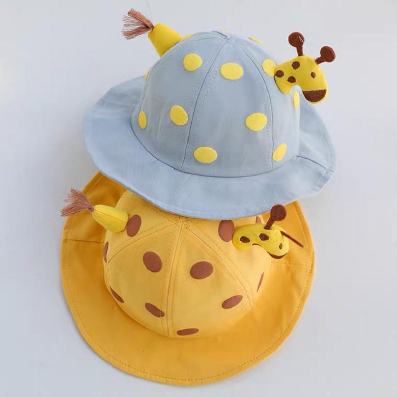 [Lemon] 아기 가을 겨울용 기린 비말 차단 벙거지 모자 1~4세