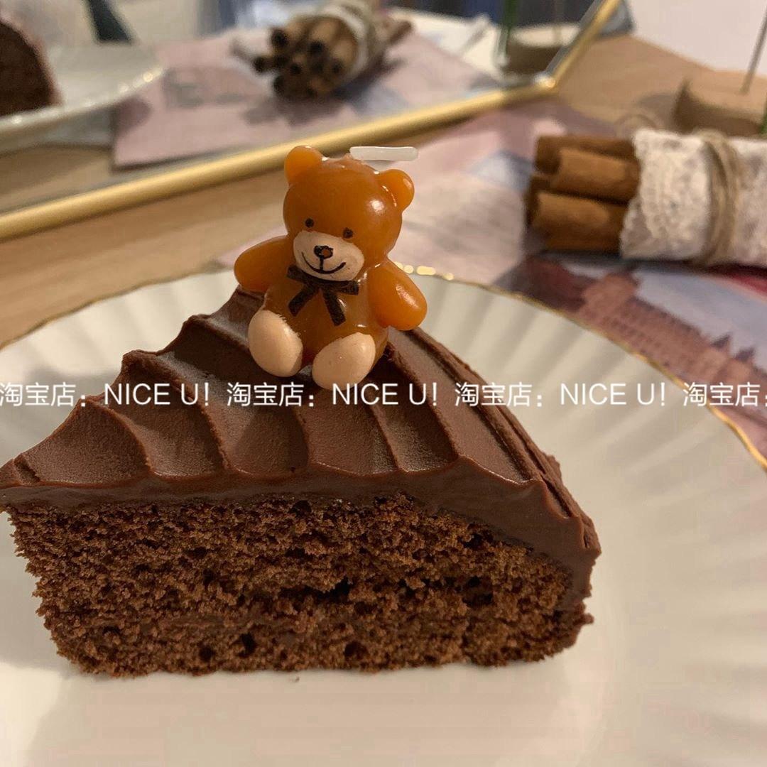 곰돌이 초 5개세트 주문케이크 장식 캐릭터 양초, 작은 곰