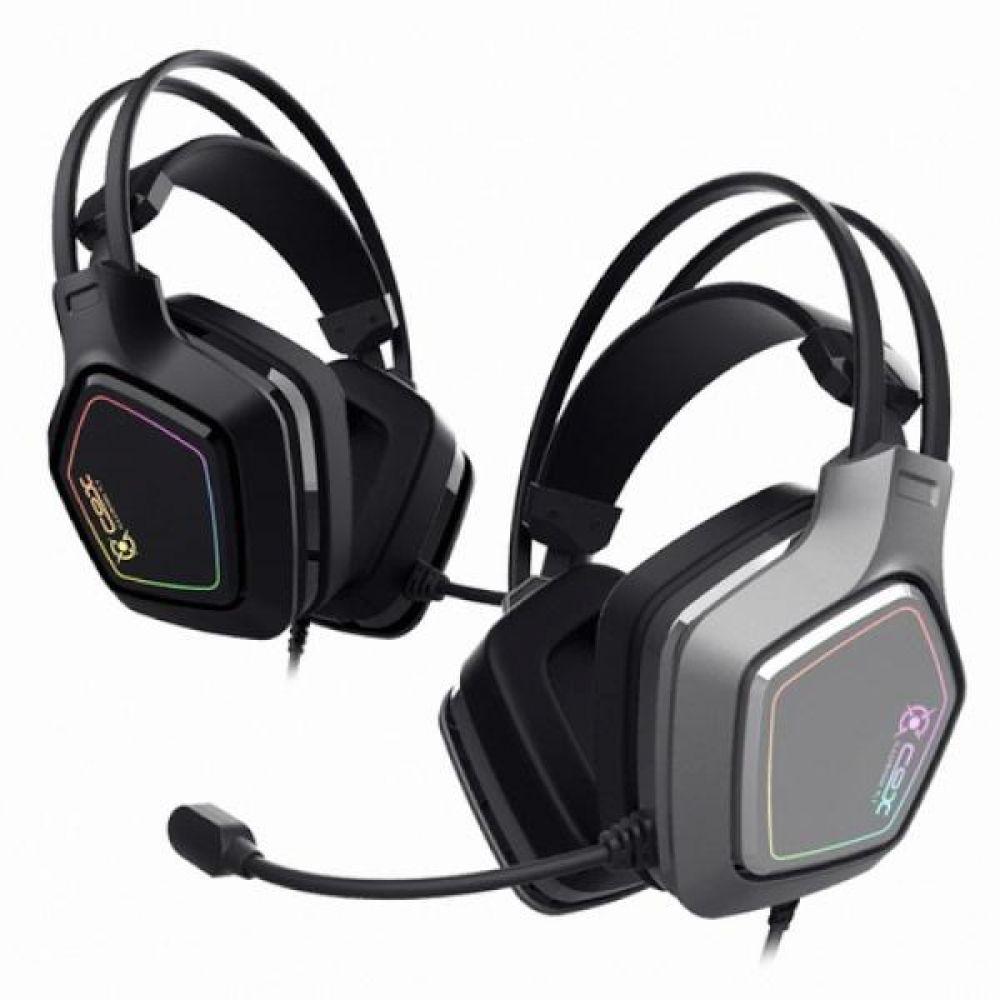 COX 헤드셋 SCARLET 가상 7 1 RGB 노이즈 캔슬링 마이크 진동 초경량 블랙