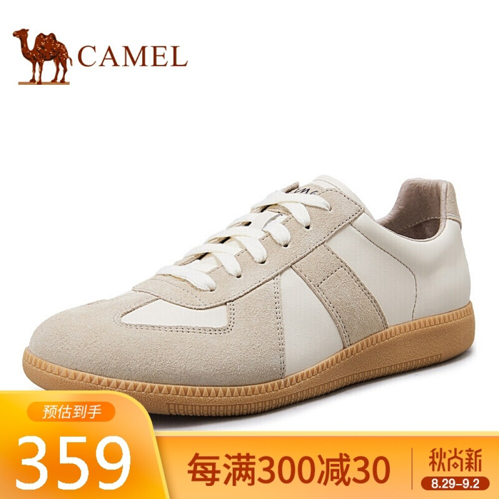CAMEL 낙타 (CAMEL) 흰 신발 통기 성 빈 티 지 캐 주 얼 검 프 슈 즈 남자 스니커 A 0332188120 m 옐 로 / 살구 42