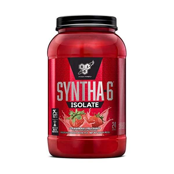 BSN 신타6 아이솔레이트 프로틴 파우더 단백질 보충제 헬스보충제 172171, 2.01 Pound, Strawberry Milkshake