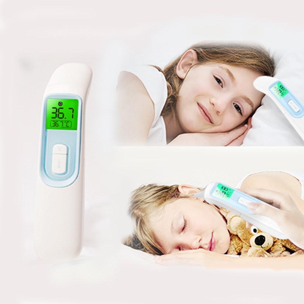 국산 코로나열체크 비접촉체온계 신생아체온계 발열체크 열감지 업소용 체온측정기 접촉식겸용, 1개