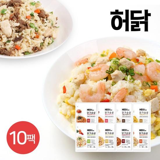 허닭 닭가슴살 곤약 볶음밥 250g 8종 10팩, 03_새우 곤약볶음밥10팩, 상세설명 참조