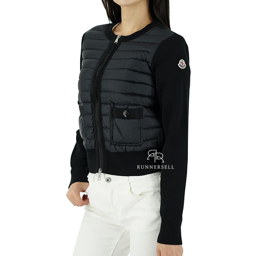 20SS 몽클레어 로고패치 여성 니트패딩 자켓 9B501 00 A9001 블랙