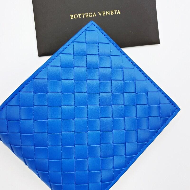 [Bottega Veneta][백화점A/S가능] 보테가베네타 인트레치아토 블루 반지갑 196207