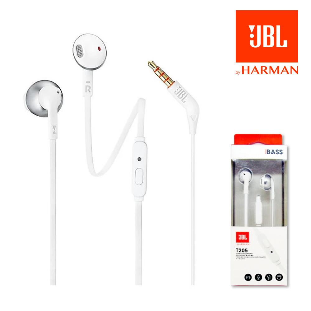 JBL HARMAN T205 이어폰(실버)삼성정품(스마트폰통화가능) 이어폰, 실버