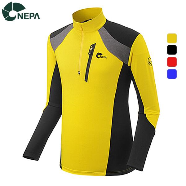 NEPA 네파 남성 크로토스 믹스 집업 티셔츠 7B55435