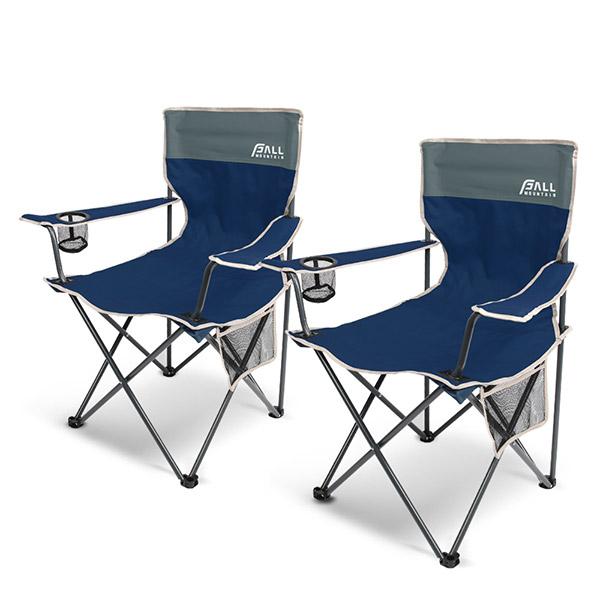 폴마운틴 필드 캠프체어세트 1+1/캠핑의자 낚시의자, 네이비
