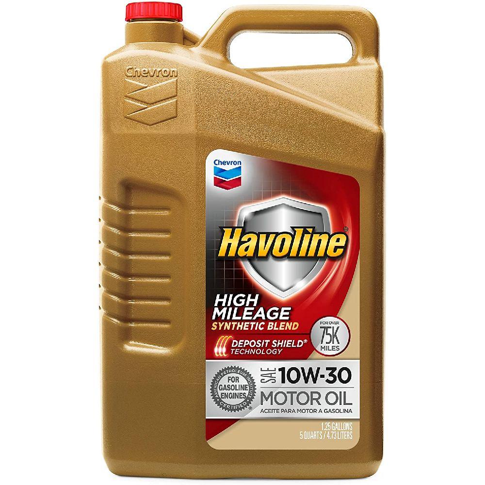 HAVOLINE Havoline 10W30 높은 마일리지 합성 혼합 5 쿼트 1 팩, 5 Quart (Pack of 1)