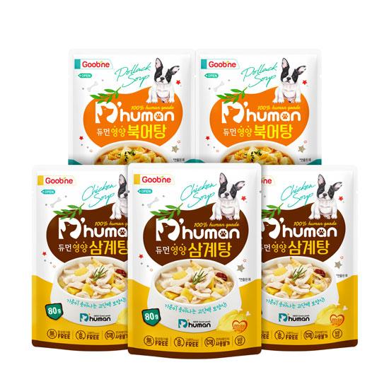 듀먼 굽네 강아지 보양식 2종, 3set, 삼계탕+북어탕