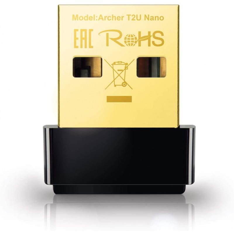 TP-Link Mini - AC600 USB 2.0 Wifi 어댑터 2.4G/5G PC Desktop Mini Travel 크기용 듀얼 밴드 무선 네트워크 어댑터 Windows, 단일옵션, 단일옵션