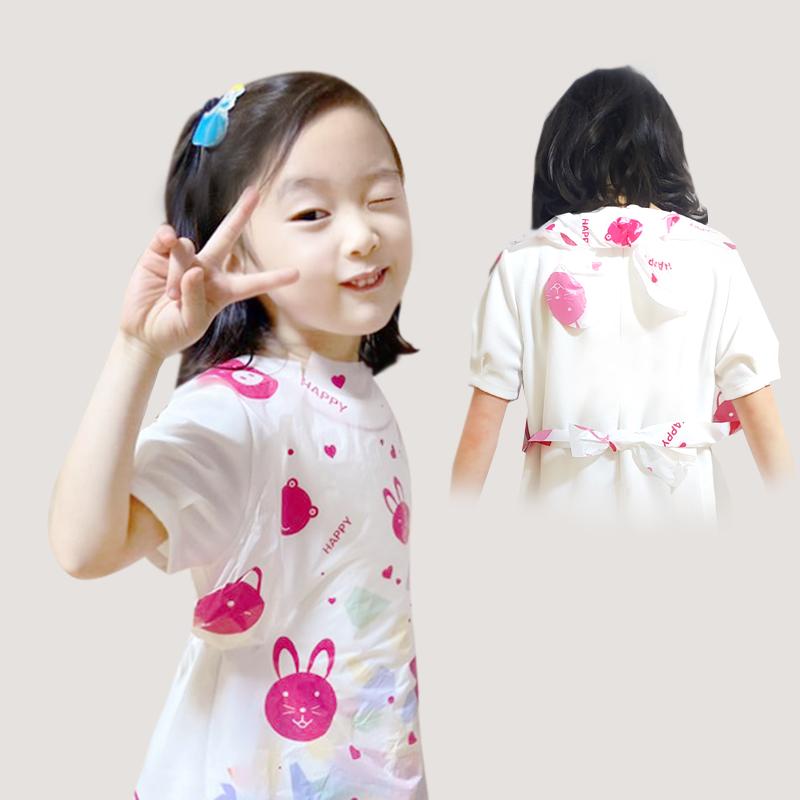 에버크린팩 어린이 일회용 앞치마, 500매, 핑크