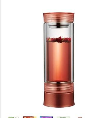 유선포트 여행 USB충전 플러그인 항온 전열 물주전자 온도조절 온도컨트롤 찻주전자 휴대용 전기가열 보온컵, T19-로즈레드 유리타입 120W0.3L전기연결타입