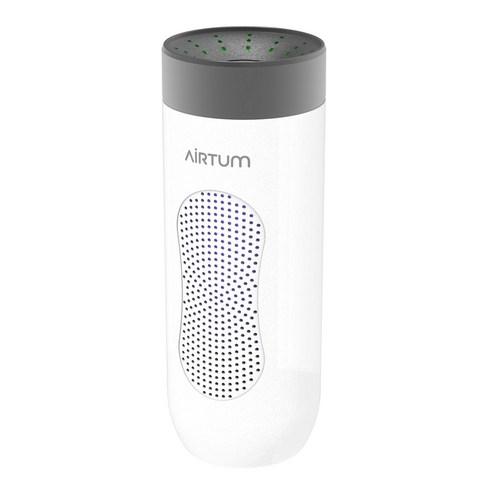 모비스타 에어텀 UV LED로 살균력 극대화한 프리미엄 차량용 공기청정기 헤파필터 듀얼팬 저소음, 화이트