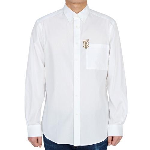 [버버리] 모노그램 스트레치 포플린 CADDINGTON 8036763 A1464 남자 셔츠 클래식핏-16-4799449928