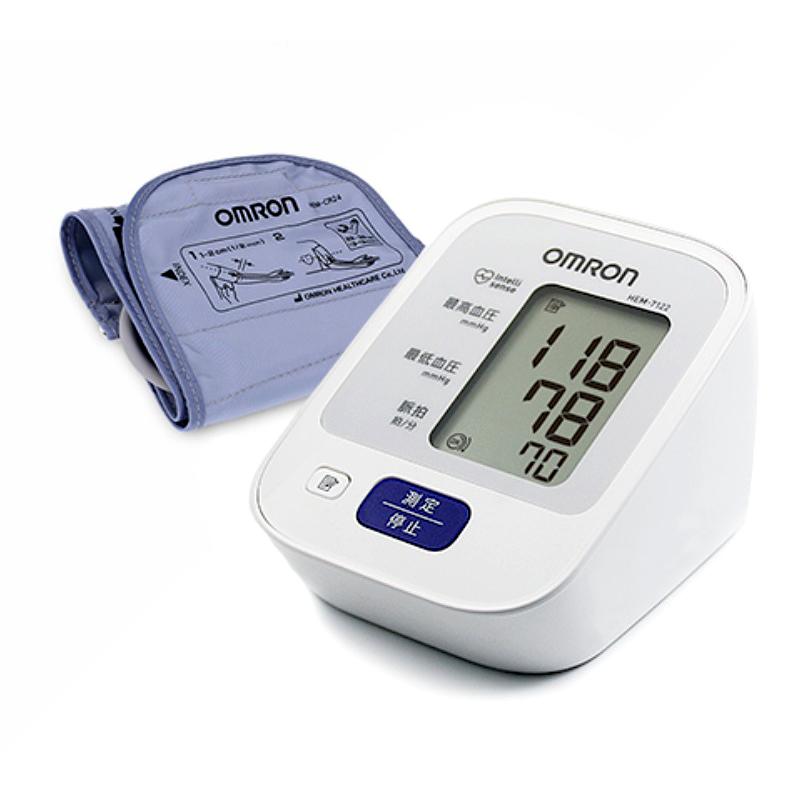 그랜드메디 오므론 전자혈압계 HEM-7122(일본생산) 자동 가정용 건전지포함 혈압계, 1개, HEM-7122