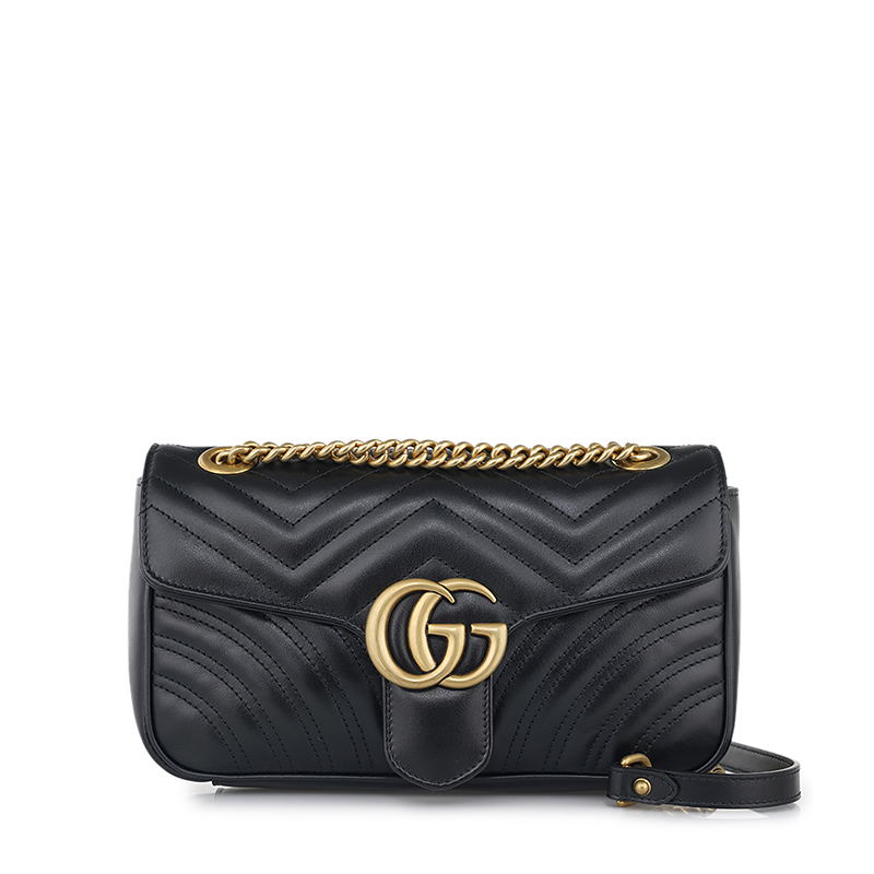 [Gucci][전시하자] [20SS] 블랙 마몬트 마틀라세 미니 체인 숄더백 443497 DTD1T 1000