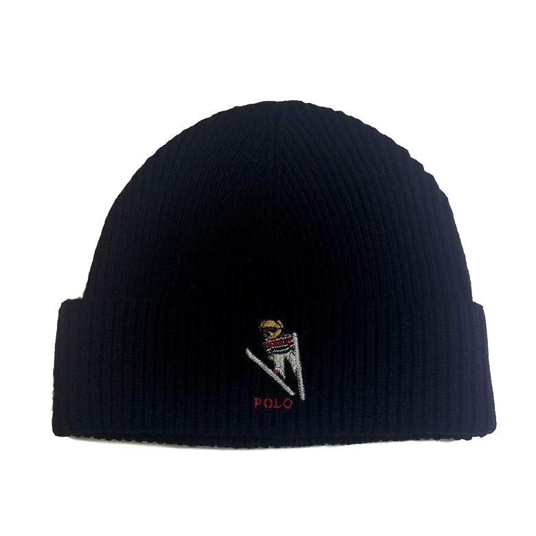 [미국 직구] POLO RALPH LAUREN 비니   모자 Black/Ski