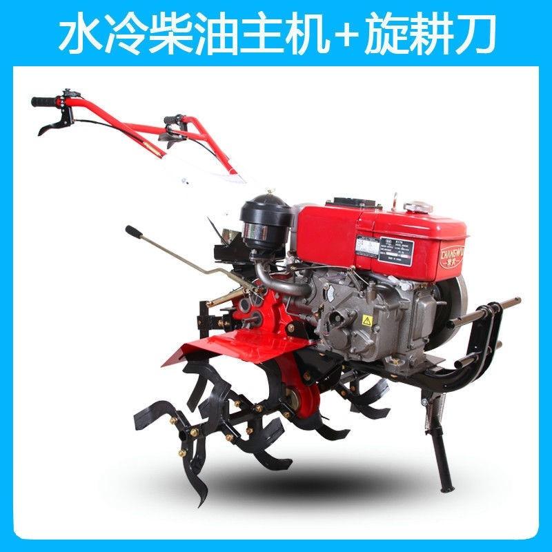 아세아 관리기 로타리날 승용관리기 구굴기 텃밭용 트레일러 농기계 농사용 미니 소형 및, 수냉식 디젤 엔진 (POP 5303023469)