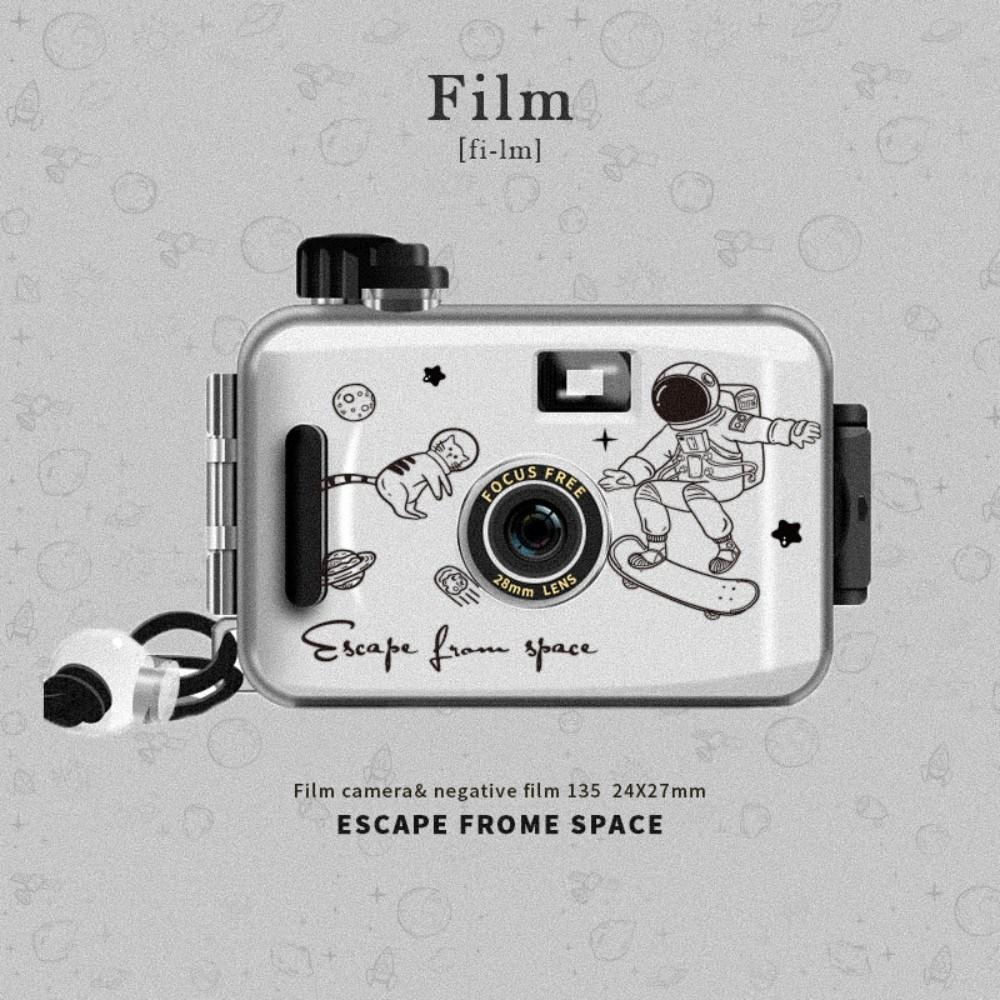 필름카메라 즉석카메라 레트로 아날로그 감성 이색선물, 화이트