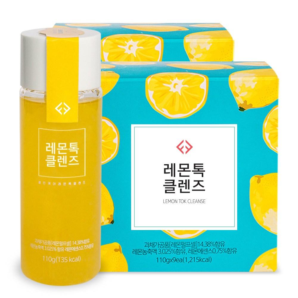 클린케어 레몬톡클렌즈 18병 6Day프로그램, 2box
