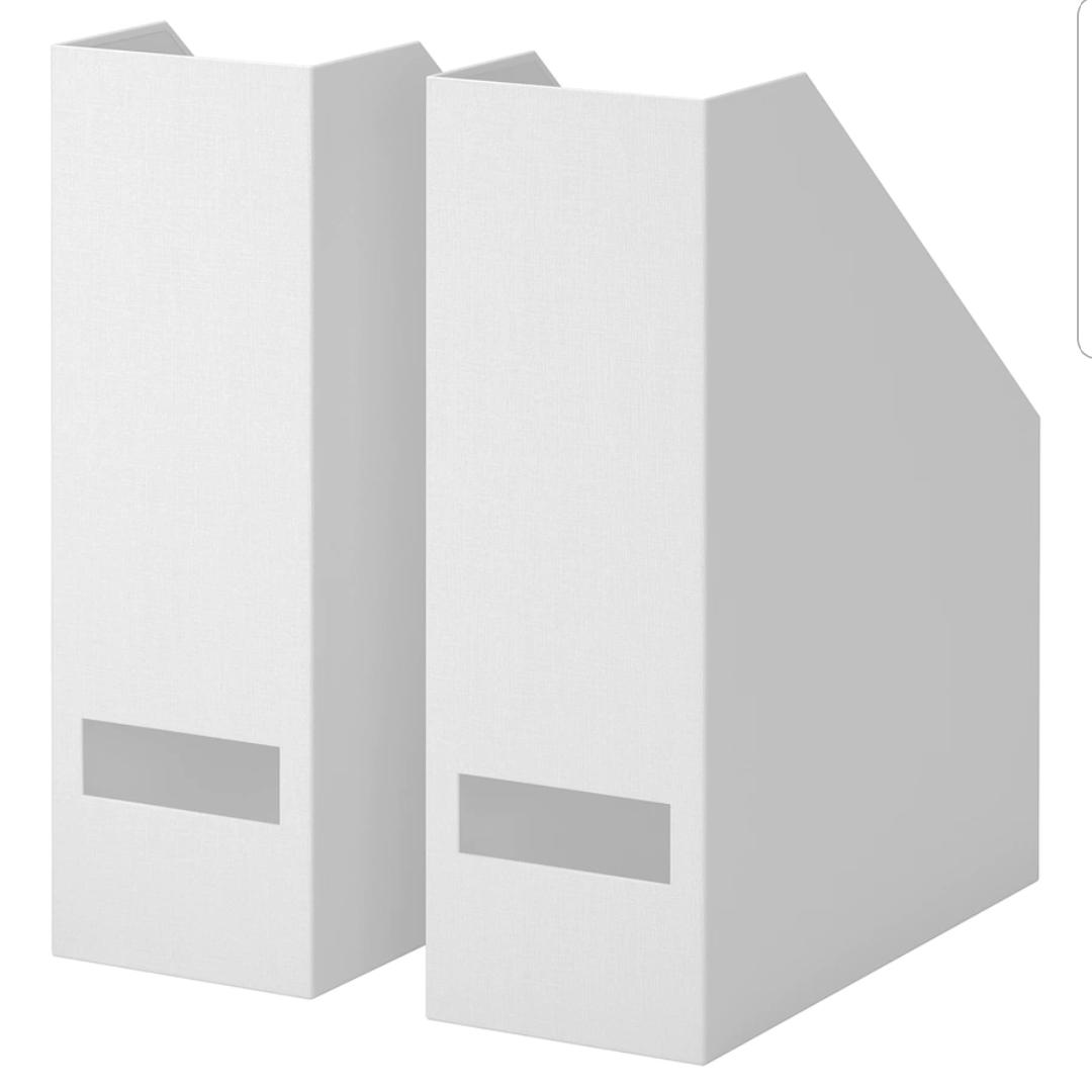 이케아 셰나 파일꽂이 블랙 화이트 (각2P세트), 2개
