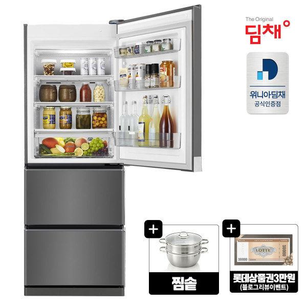 [위니아딤채] [포토리뷰2종/찜솥+롯데상품권]21년형 딤채 스탠드형김치냉장고 412L SD, 상세 설명 참조