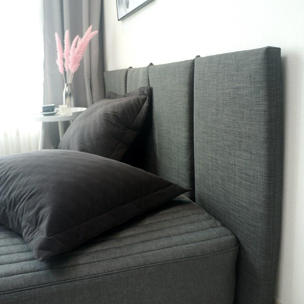 데코코 슬림 침대 헤드보드-6color 헤드쿠션, 차콜(상품촬영)