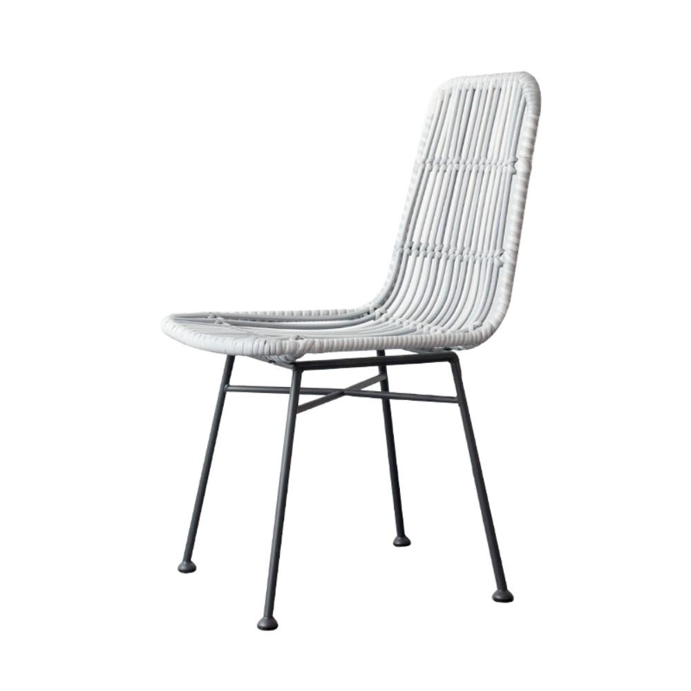 북유럽 철제 라탄의자 카페 호텔 야외 테라스 의자, D