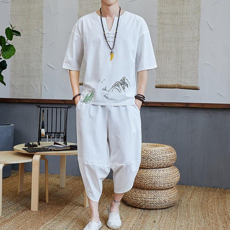 생활한복 자수 밴딩바지 개량한복 생활한복(개량한복)