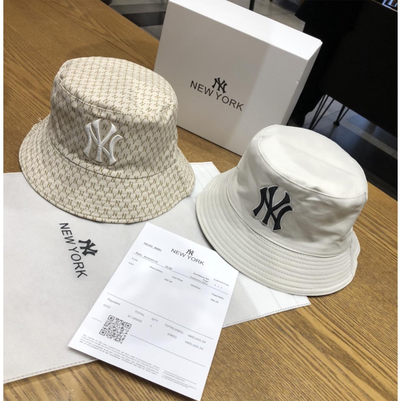 크몽 NY 정반 양면 자수 커플 어부모자 2020년 춘하 햇빛과 바람막이 남녀 모자
