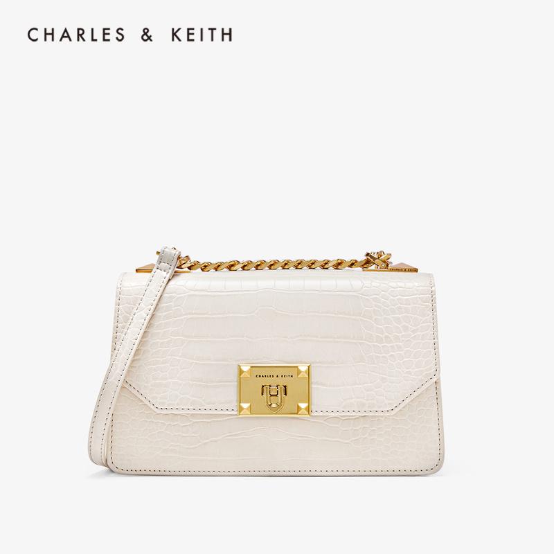 찰스앤키스 Croc-Effect Chain Strap Crossbody Bag CK2-80781126-2