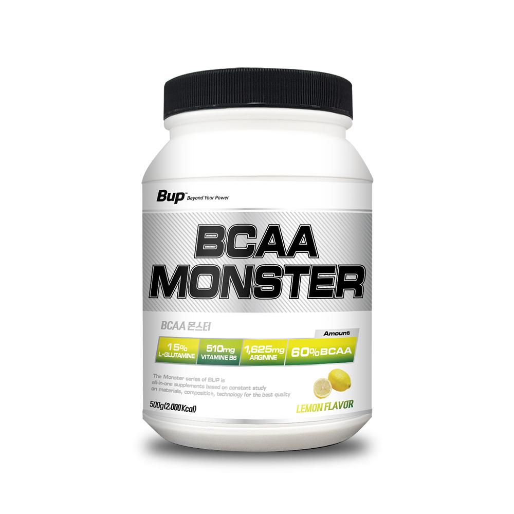 뉴트리션스토어 BUP BCAA몬스터 레몬맛 아미노산 헬스보충제 BCAA, 1통, 500g