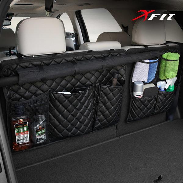 바스켓카운트 블랙 에디션 자동차트렁크 가죽정리함SUV RV전용 헤드레스트 포켓