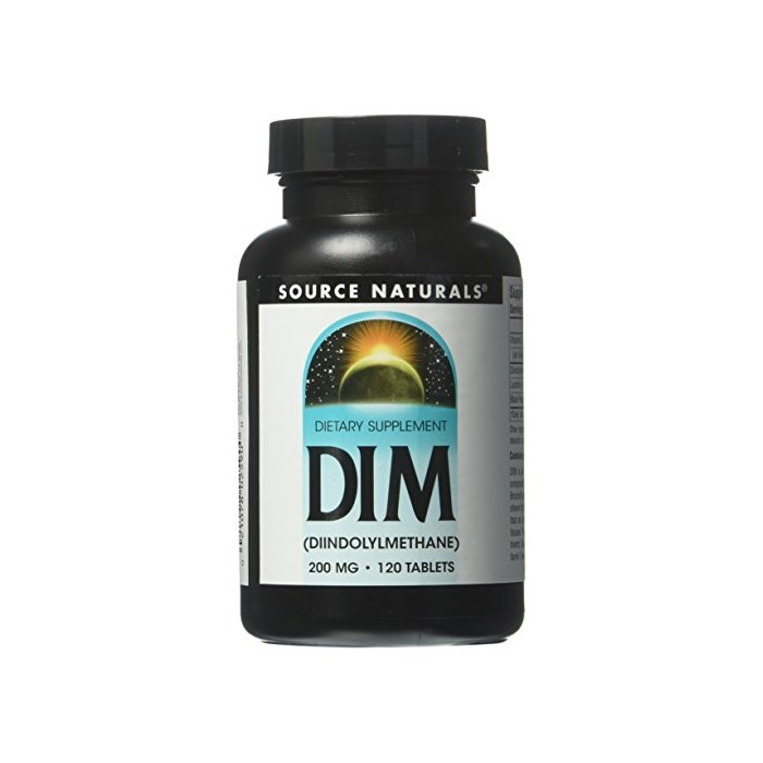 Source Naturals DIM 200 mg 120 Tablet, One Color, One Size