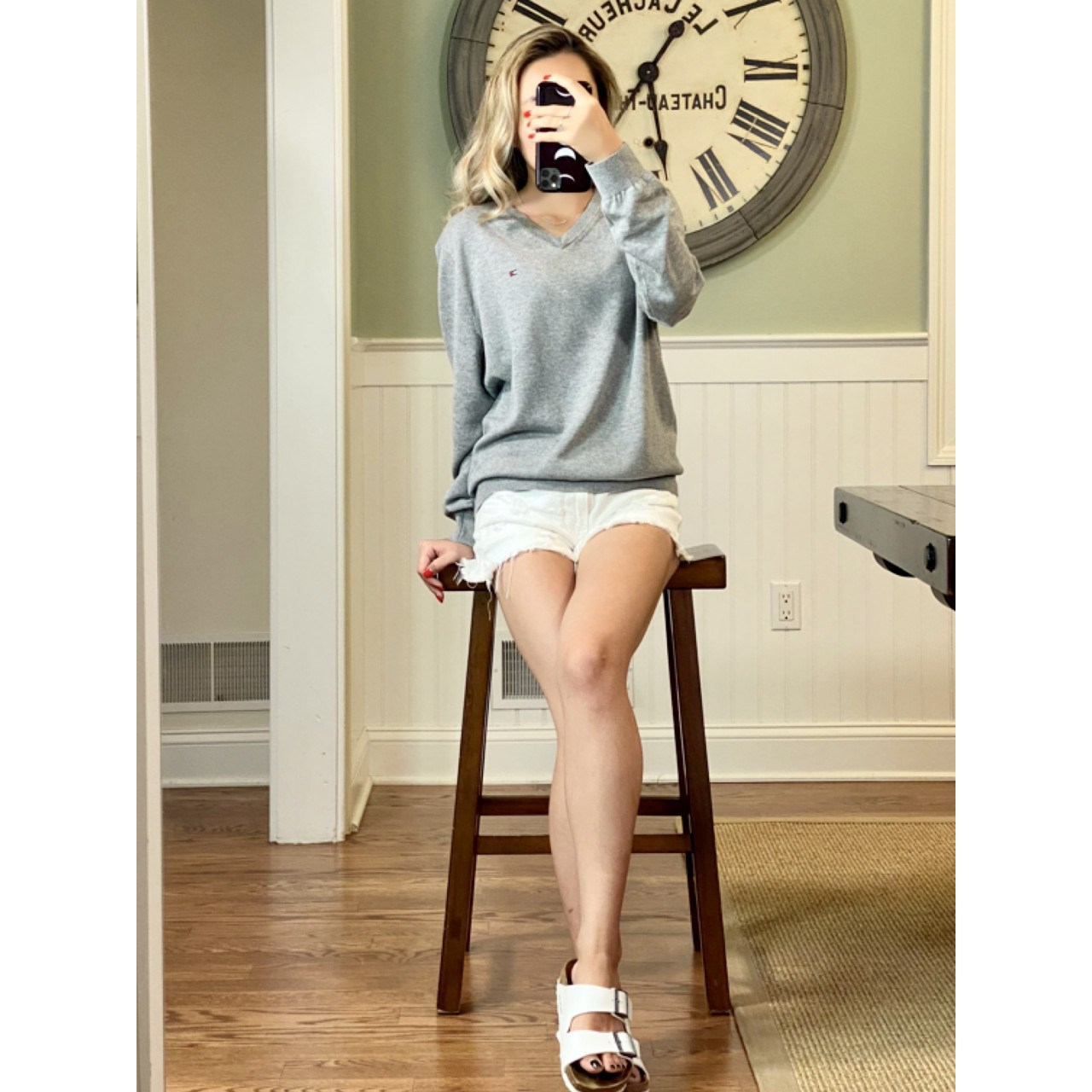 타미힐피거 남녀공용 브이넥 미니 플래그 시그니처 로고 코튼 니트 스웨터 (7컬러)