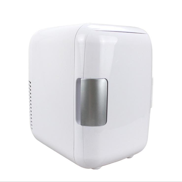 가정용 실내 미니 캠핑용 음료수 맥주 화장품 냉장고, 4L 흰색 (차량용)