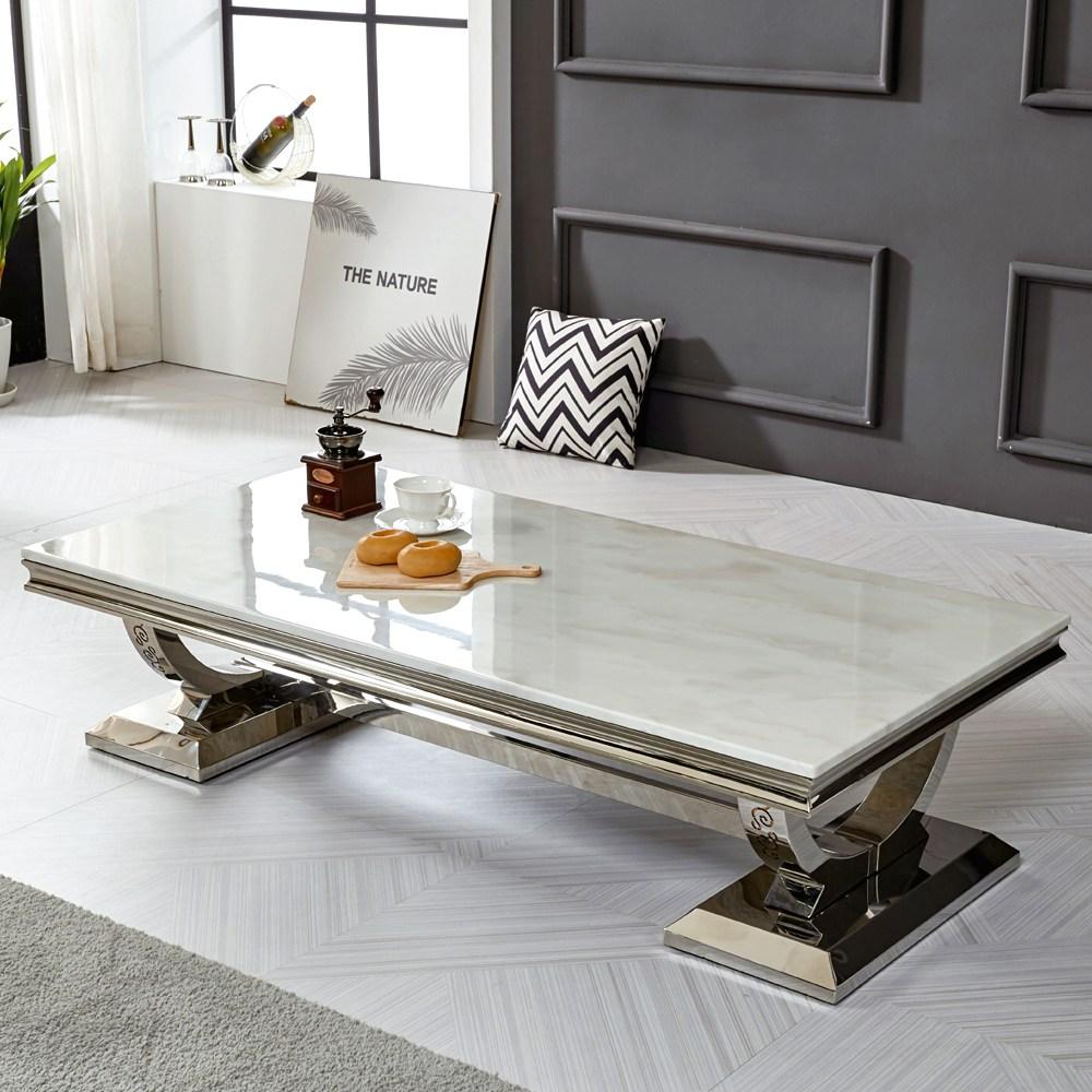 트로네 아르미스 로체 1400 대리석 테이블, 화이트