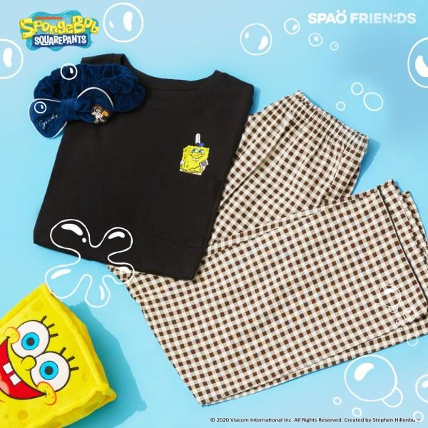 스파오 (스폰지밥) 비키니시티 인싸 티셔츠 잠옷(BLACK)_SPPPA49U04